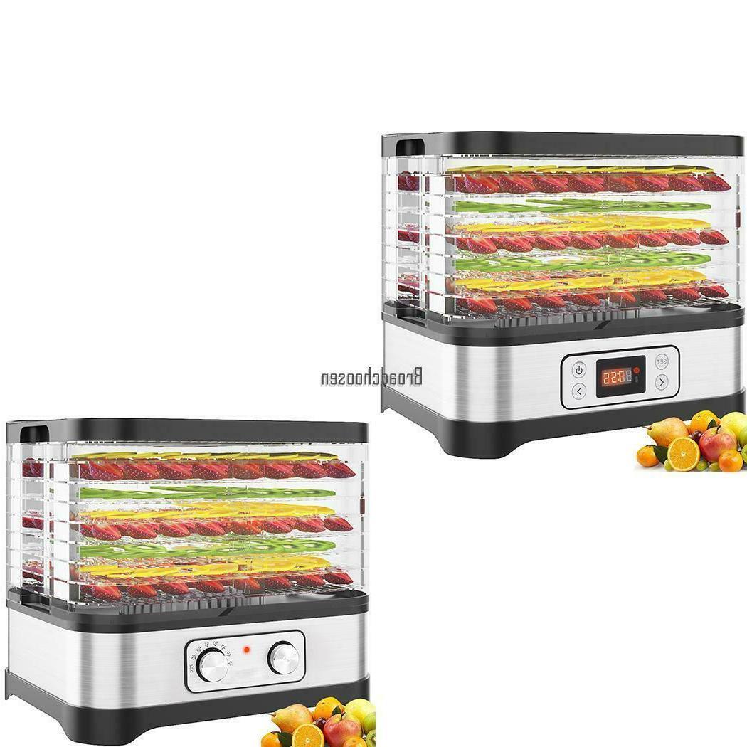 5 8 tier trays electric food dehydrator