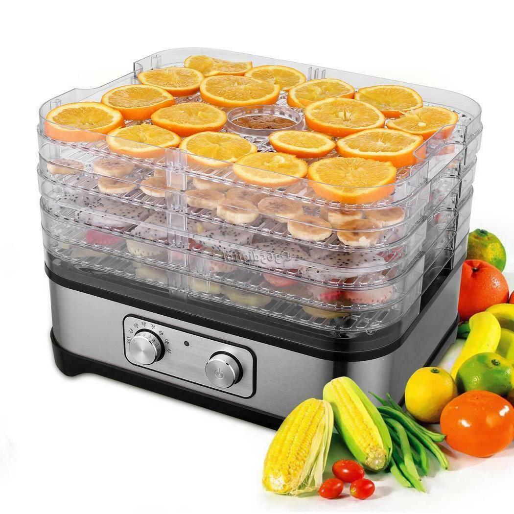 5-8 Trays Electric Food Dehydrator Fruit Dryer Beef Jerky~Preserver