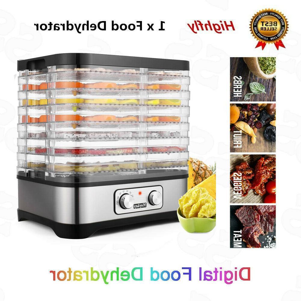 5/8 Trays Food Fruit Dryer Beef