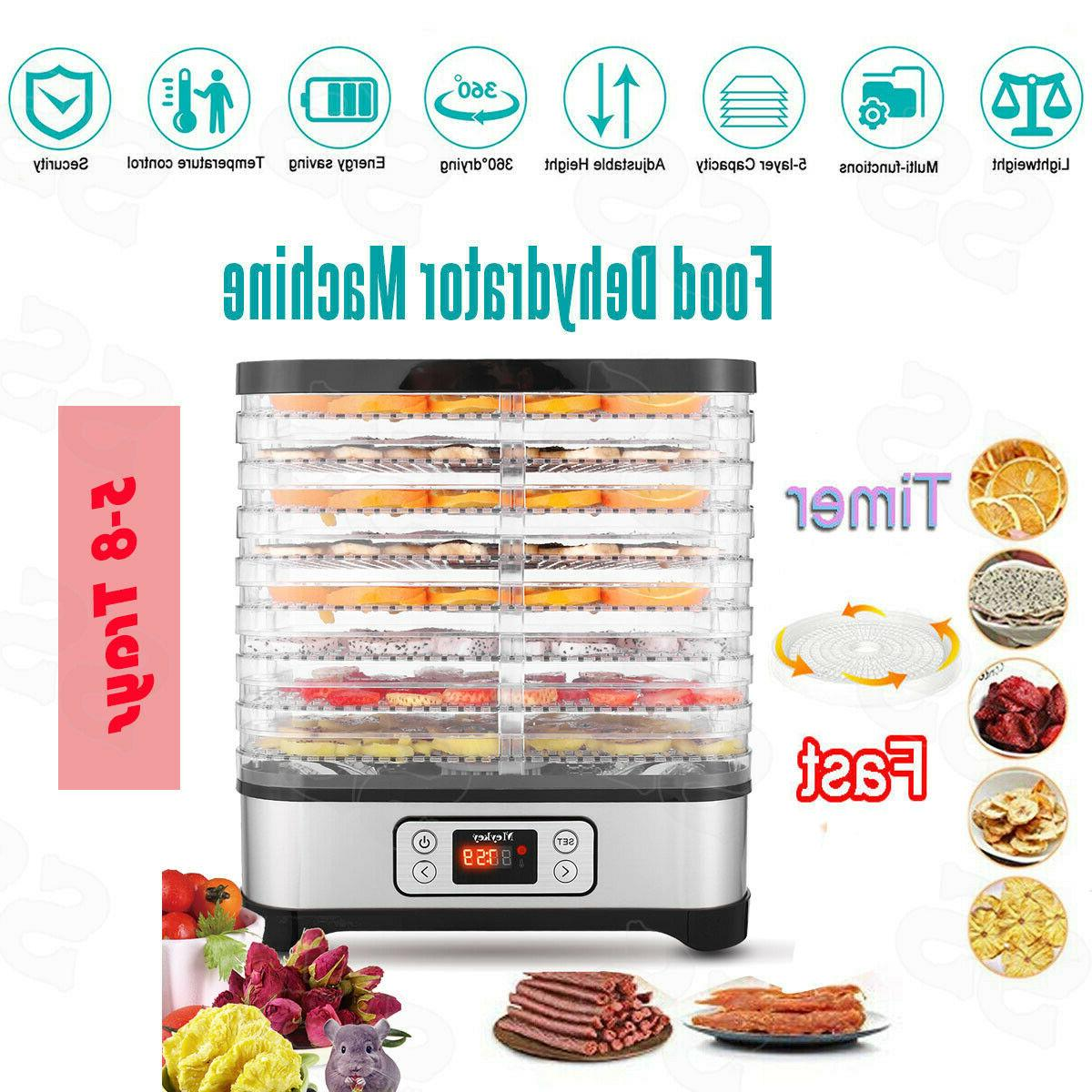 5-8 Tier Trays Electric Food Dehydrator Machine Fruit Dryer