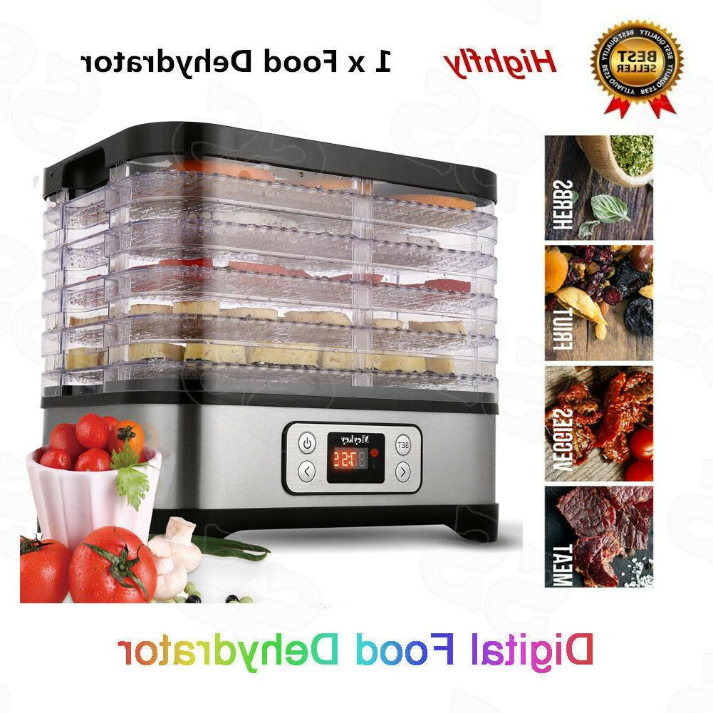 Food 7/8Tier Stainless Steel Fruit B Dryer