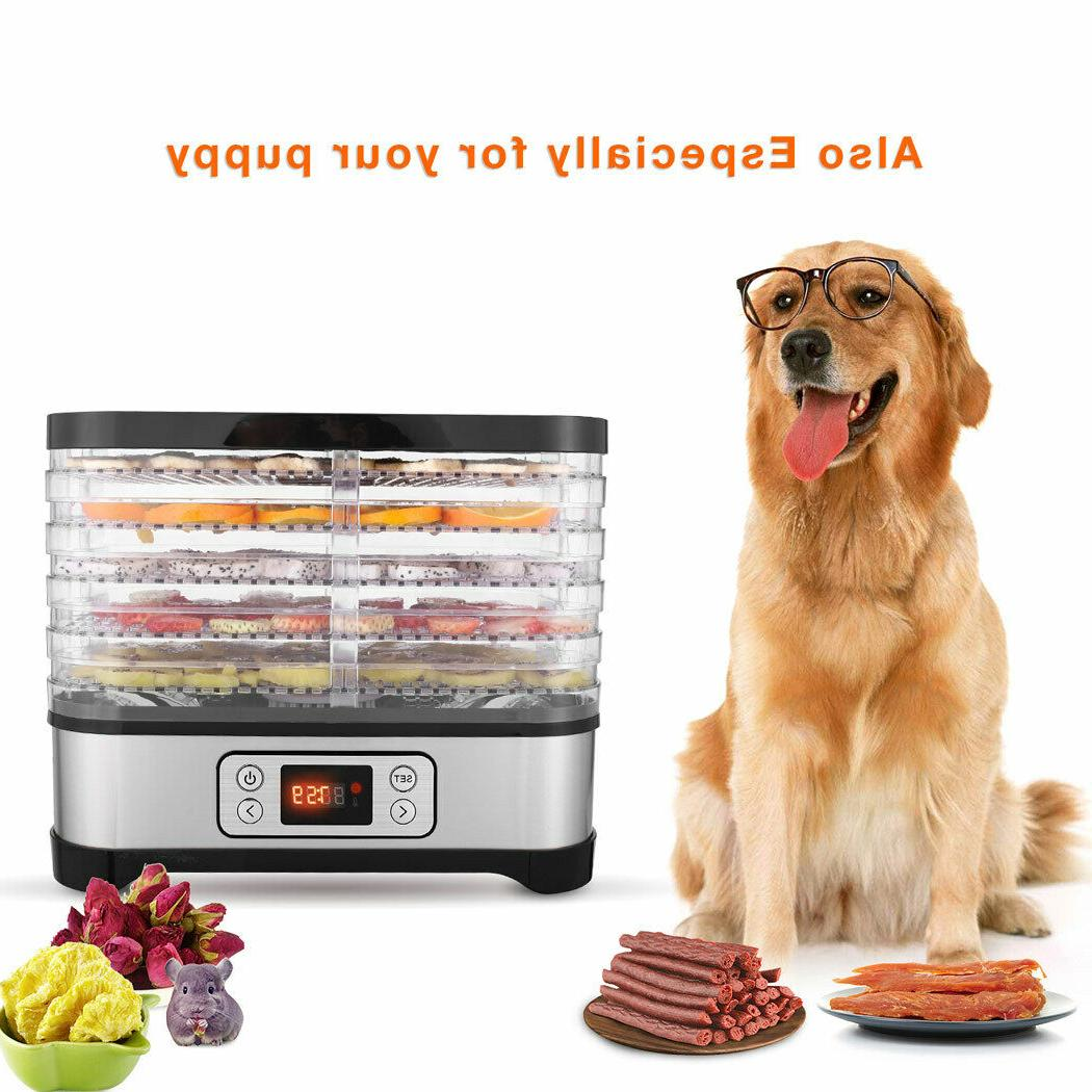 5-8 Trays Food Dehydrator Meat Dryer Herbs Fruit