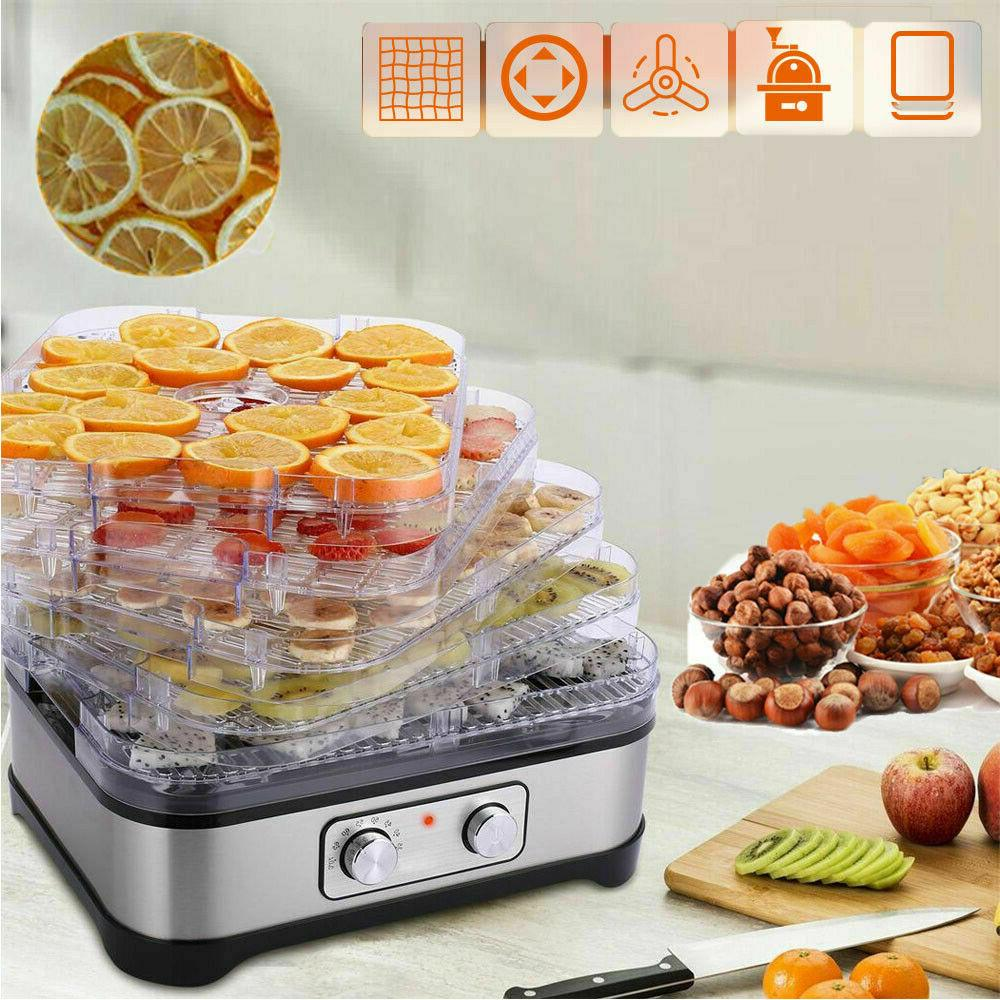 5 Stackable Trays Electric Food Dehydrator Machine, Home Fru