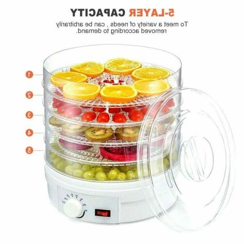 5 Trays Fruit Vegetable Meat Dryer Home Drying Machine