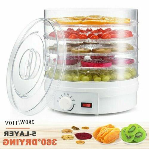 5 Food Dehydrator Fruit Vegetable Meat Dryer Home Drying