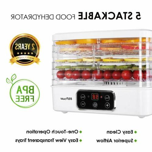 5 Tier Electric Food Dehydrator Machine Fruit Dryer Beef Jer