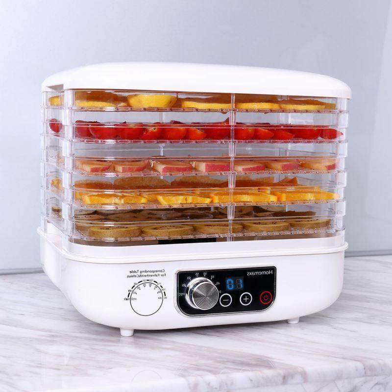 Food 5 Tray Food Preserver Fruit Vegetable Dryer Control