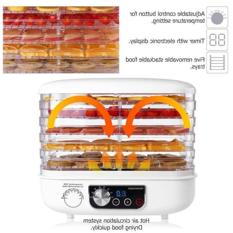 Food Dehydrator 5 Tray Food Fruit Dryer Temperature Control