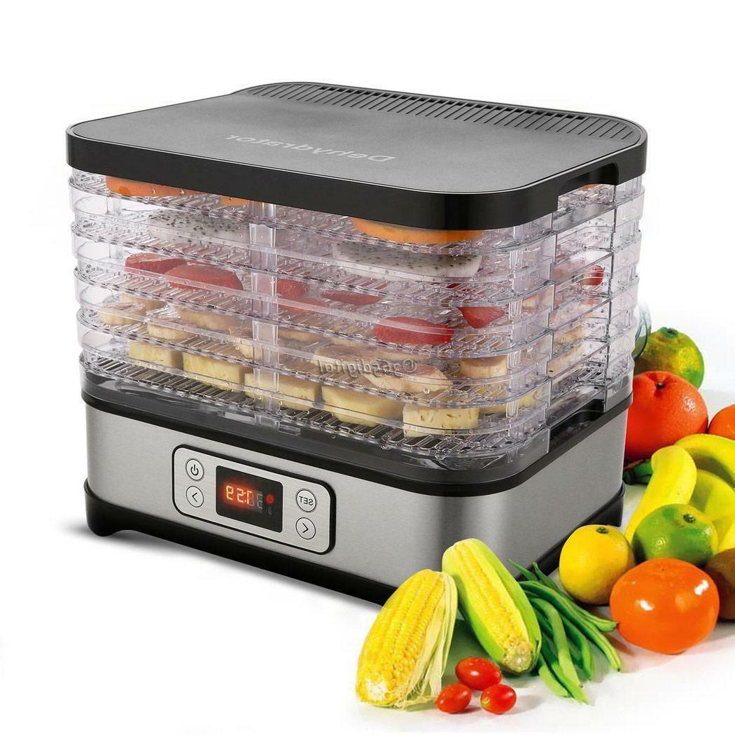 5 Electric FOOD DEHYDRATOR Machine Fruit Dryer Maker-