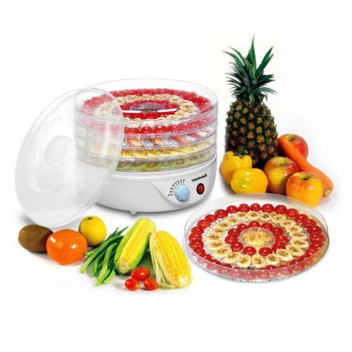 5Tray Electric Food Dehydrator Fruit Vegetable Dryer Beef Sn