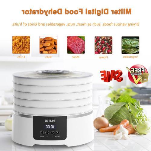 5 tray electric food dehydrator digital fruit