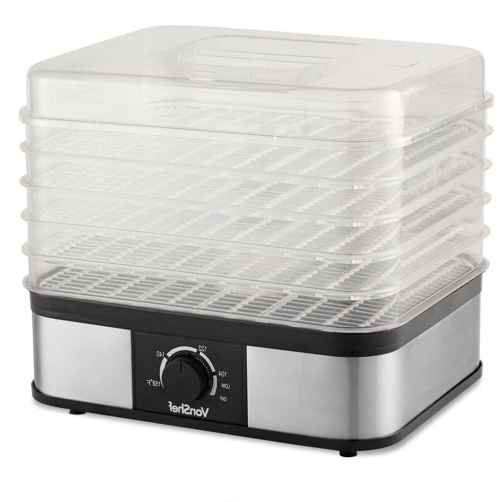 VonShef 5 Tray Food Dehydrator Preserver &