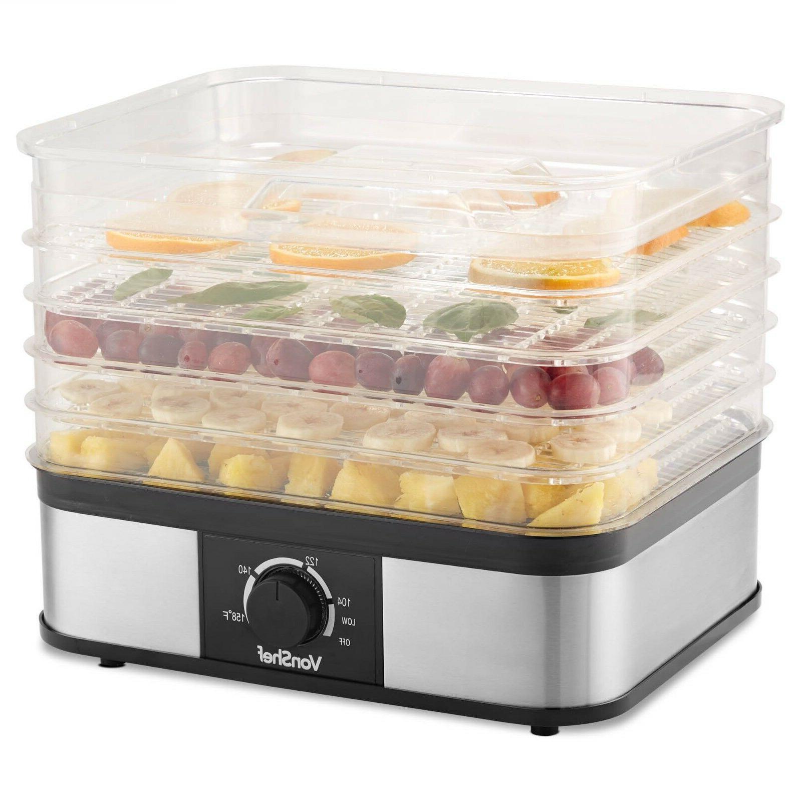 5 tray food dehydrator machine electric food