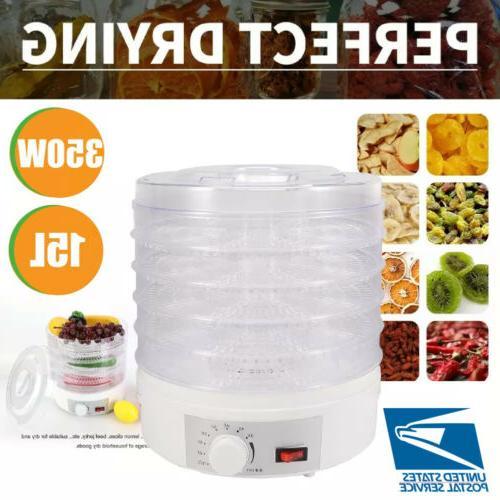5 tray food dehydrator temperature adjustable fruit