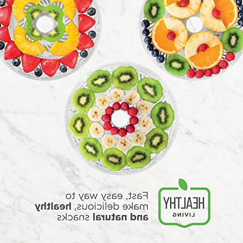 Food Dehydrator, Electric Multi-Tier Maker, Fruit, Herb, Vegetable Dryer, Diameter 6.5 Height