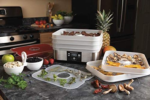 Hamilton Beach 500W 5 Tray Stacking Dehydrator Mason Jars