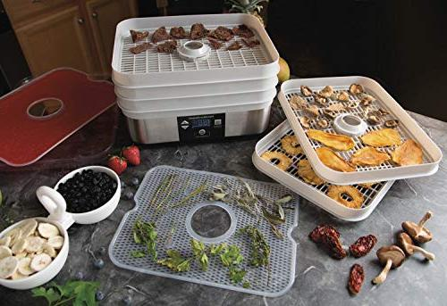 Hamilton Beach Tray Stacking Counter Dehydrator Oz Mason Jars