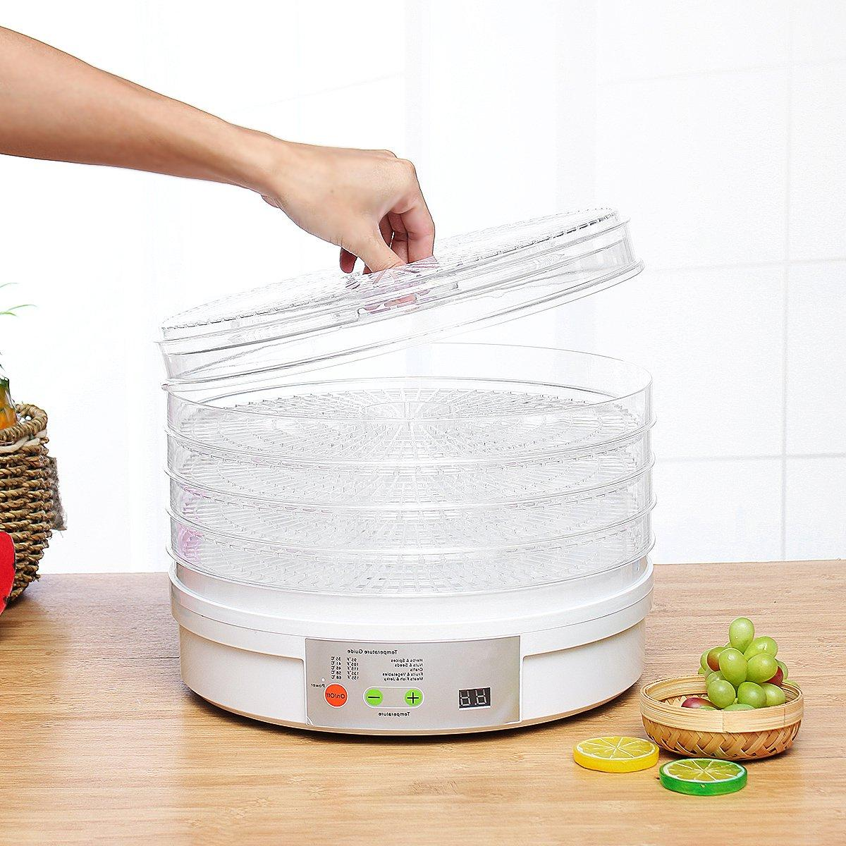 5 Trays <font><b>Food</b></font> AS Digital <font><b>Food</b></font> <font><b>Dehydrator</b></font> Fruit Herb Drying Dried Fruit