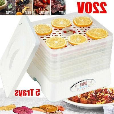 5 trays food dehydrator fruit vegetable meat