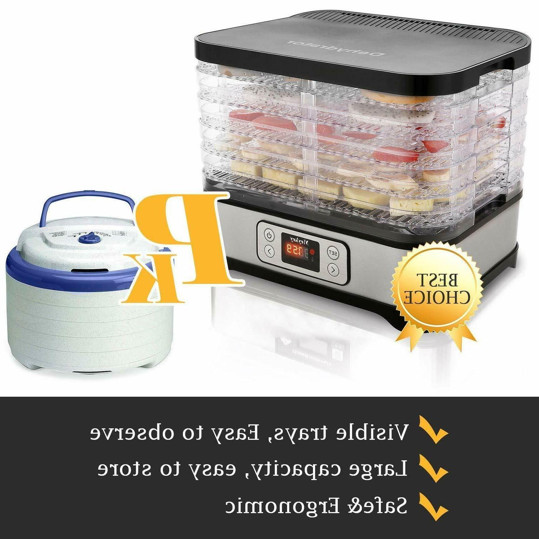 5 Electric Food Dehydrator Dehydrators Easy store &