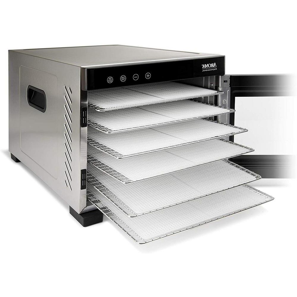 6 Tray Food Dehydrator Glass Door Temperature Control