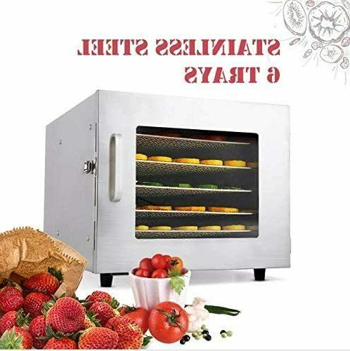 6 tray food dehydrator machine stainless steel