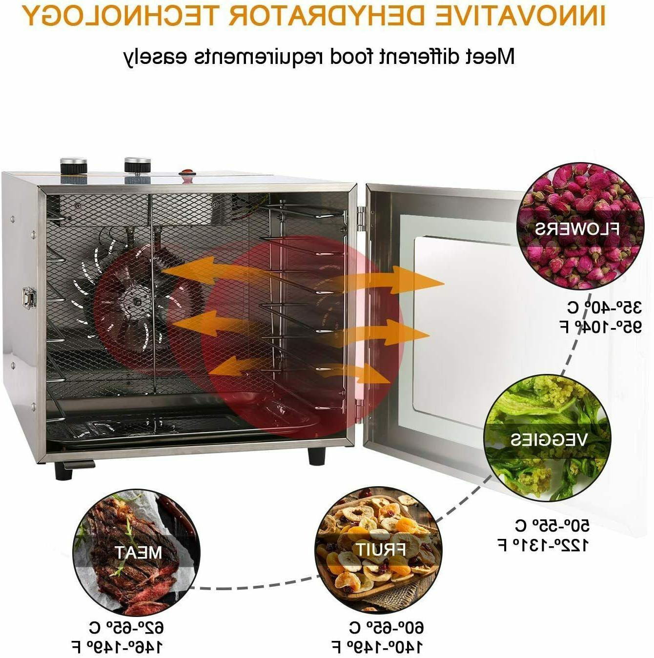 6 Tray Food Dehydrator Machine Stainless Steel Healthy Fruit