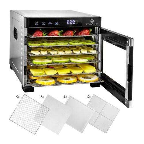 6 tray food dehydrator machine w digital