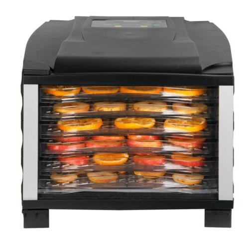 6-Tray Food Temperature Settings Faster Efficient Drying