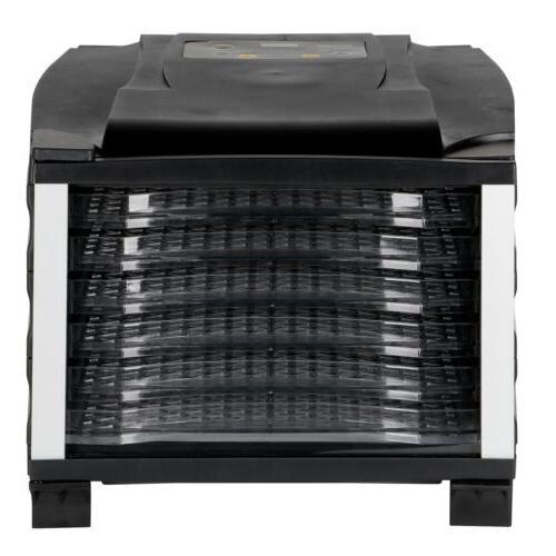 6-Tray Electric Dehydrator Temperature Efficient