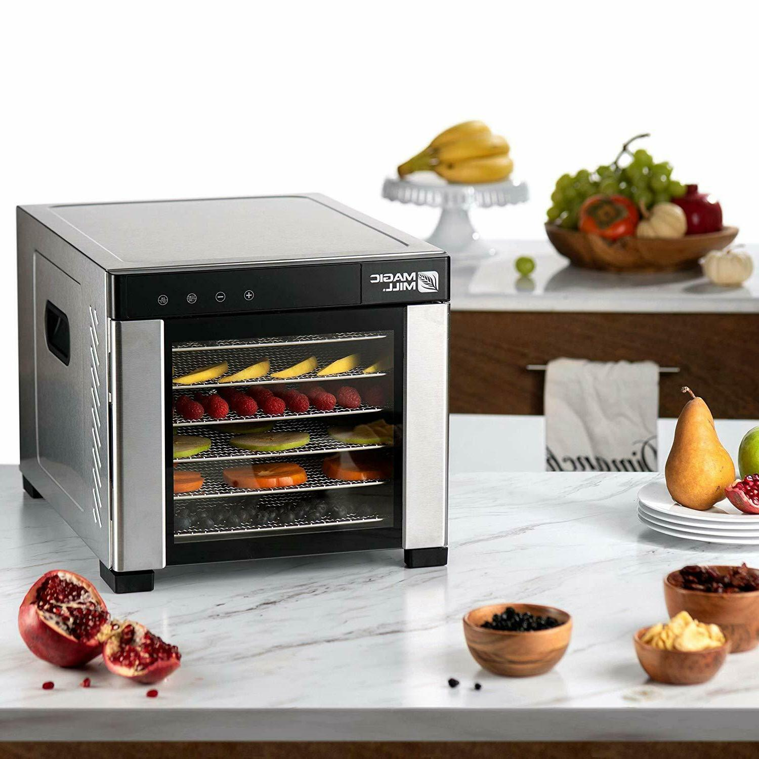 6 Food Dehydrator Timer Stainless Steel Accessories