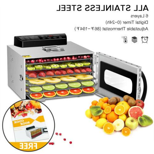 KWASYO 6 Tray Food Dehydrator Fruit Dryer Vegetable Jerky  U