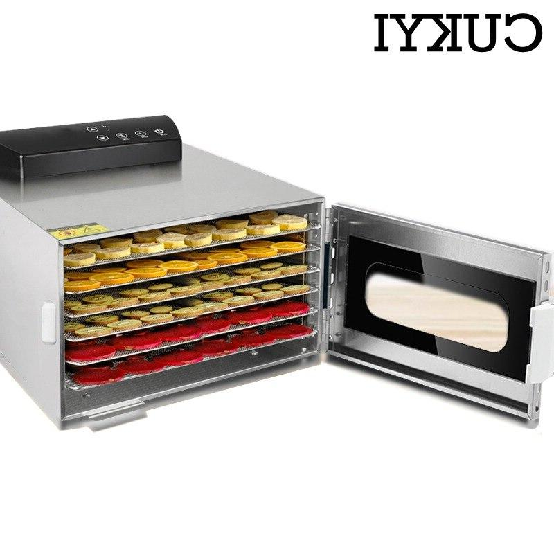 CUKYI Trays <font><b>Dehydrator</b></font> Snacks Dryer Fruit Vegetable Herb 110V