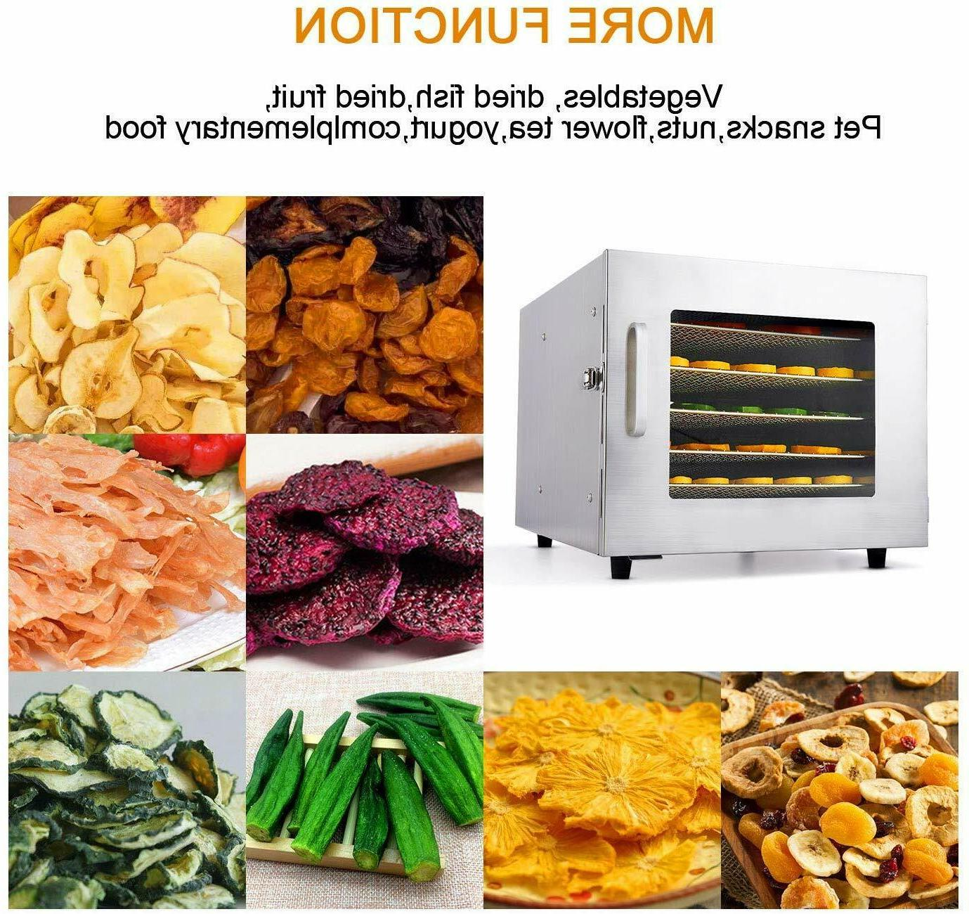 6 Tray Food Dehydrator Machine Healthy Fruit New US