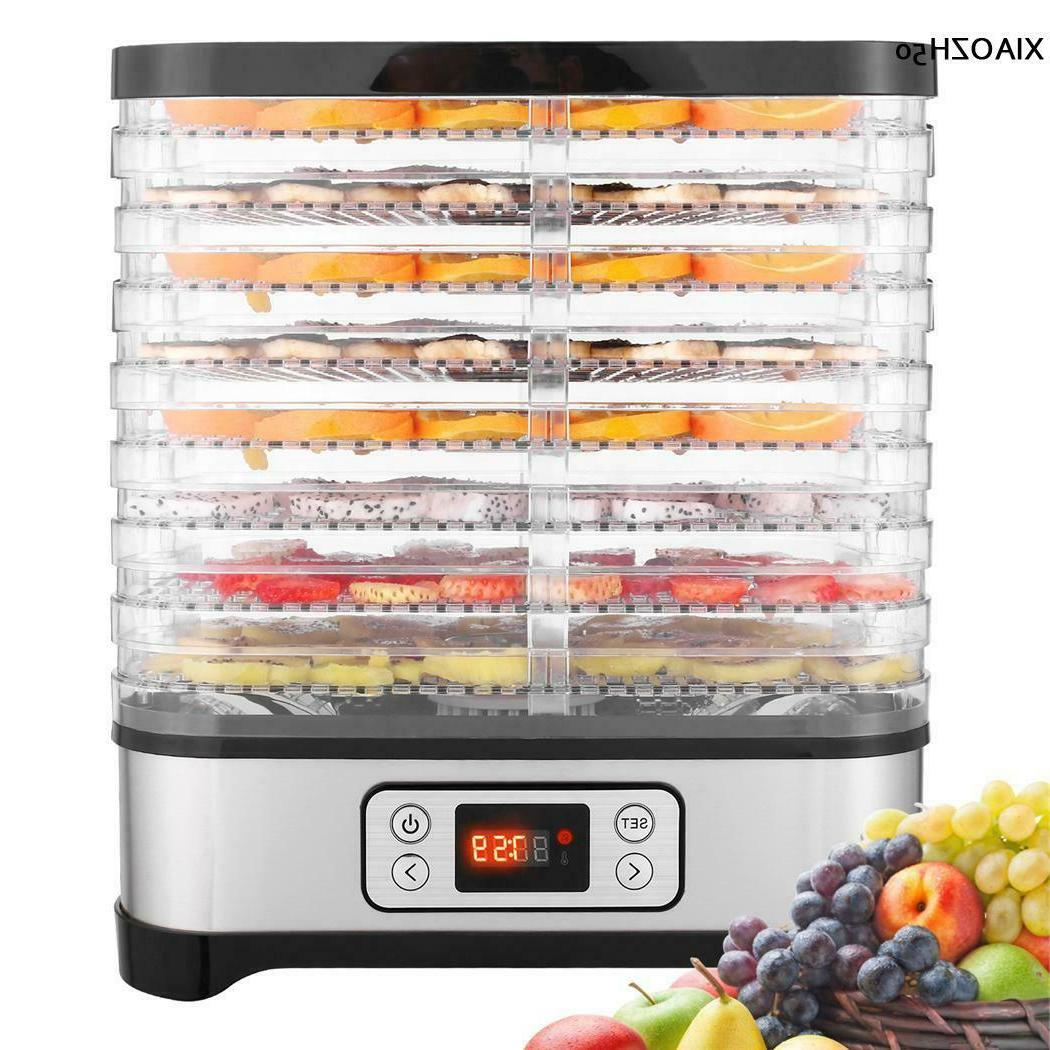 8 tier electric food dehydrator machine fruit
