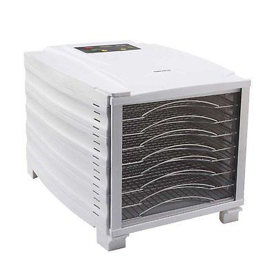 8 tray food dehydrator digital timer