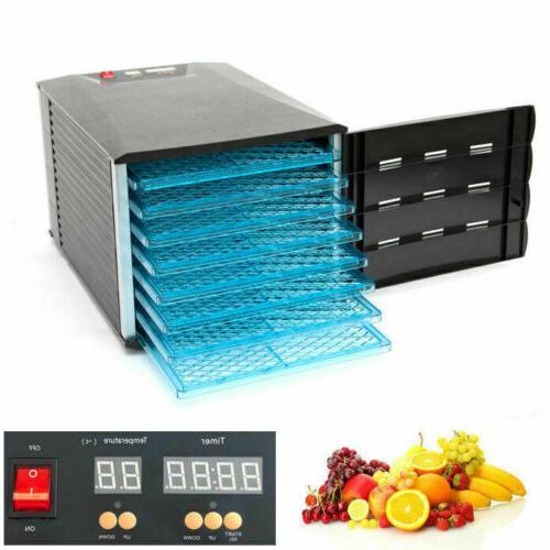 8 tray food dehydrator jerky fruit vegetable