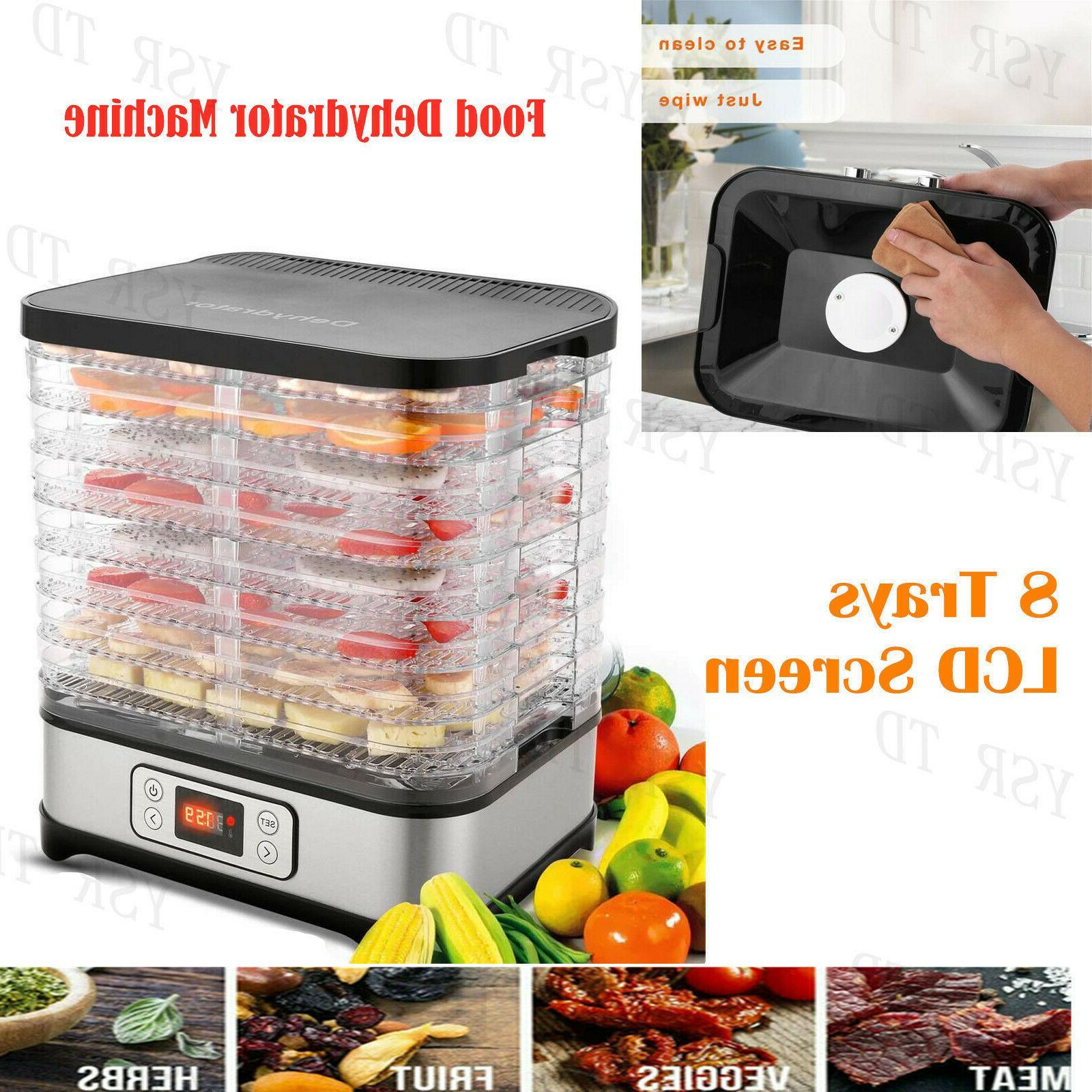 HOMDOX Food Dehydrator Tier Steel Jerky Meat