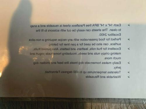 Globalis Food Dehydrator Sheets -Excalibur 2500 2900 3900