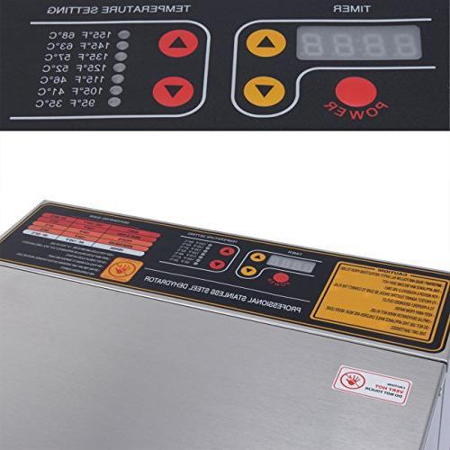 Della Food Dehydrator Nut Fruit Sausage Jerky Dryer, Stainless Steel