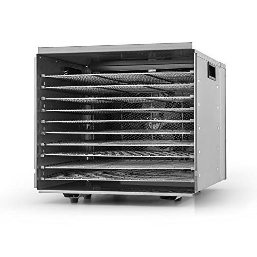 Della Food Durable Fruit Sausage Jerky Dryer, Stainless Steel