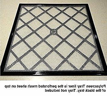 "Excalibur 11"" x 11"" Polyscreen Mesh Tray Screen Inserts for"
