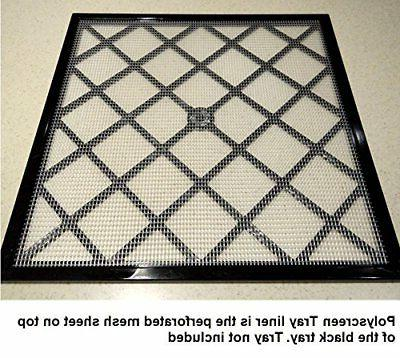 """Excalibur 14"""" x 14"""" Polyscreen Mesh Tray Screen Inserts for"""