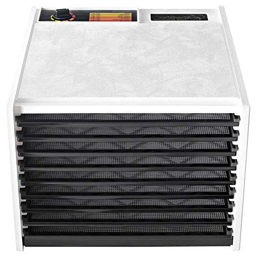 Excalibur 3900W 9-Tray Electric Food Dehydrator with Thermostat Accurate Faster Efficient Includes Made in White