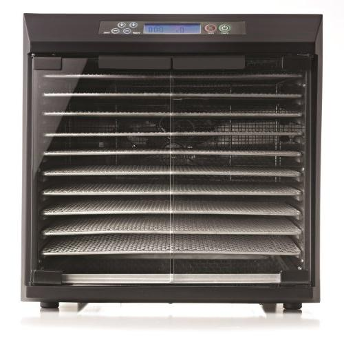 Excalibur EXC10EL 10-Tray Glass Doors, with Stainless