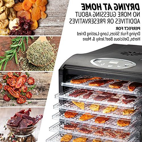 Ivation 9 - 600w - Timer with - 95ºF to 158ºF for Drying Vegetables Nuts, Free