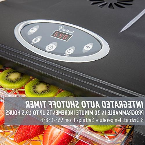 Ivation 6 Tray Digital Electric Dehydrator 480w Nuts