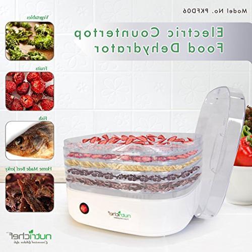 NutriChef Dehydrator Machine - Food Beef Jerky Maker, /Vegetable Dryer with Stackable -