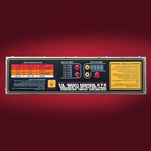STX International STX-DEH-1200W-XLS Dehydra Commercial Stainless Digital Food Dehydrator - 10 - 1200 Watts Fahrenheit - Jerky with Timer