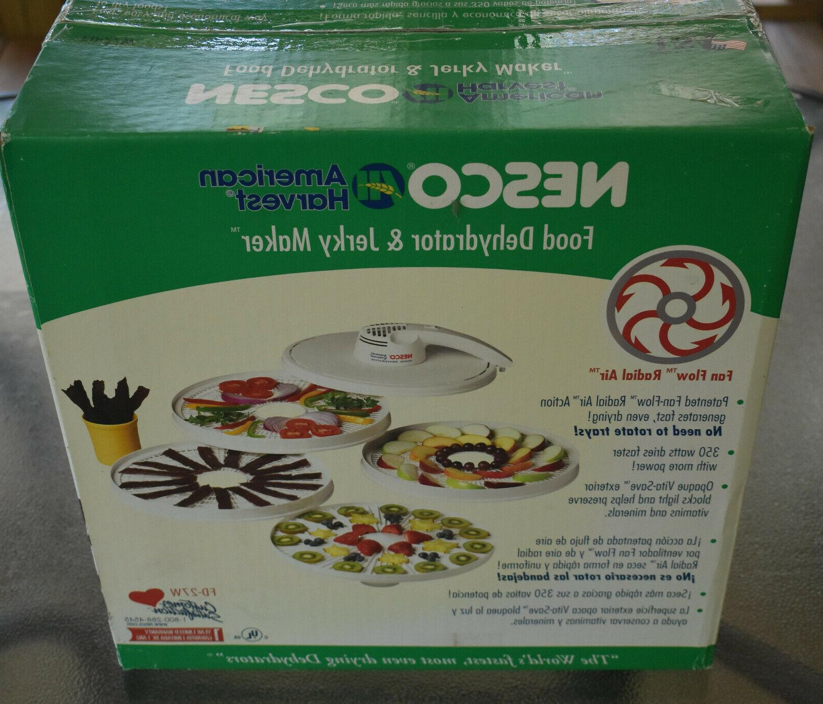 NESCO DEHYDRATOR AND MAKER MODEL FD-27W BOX MANUAL